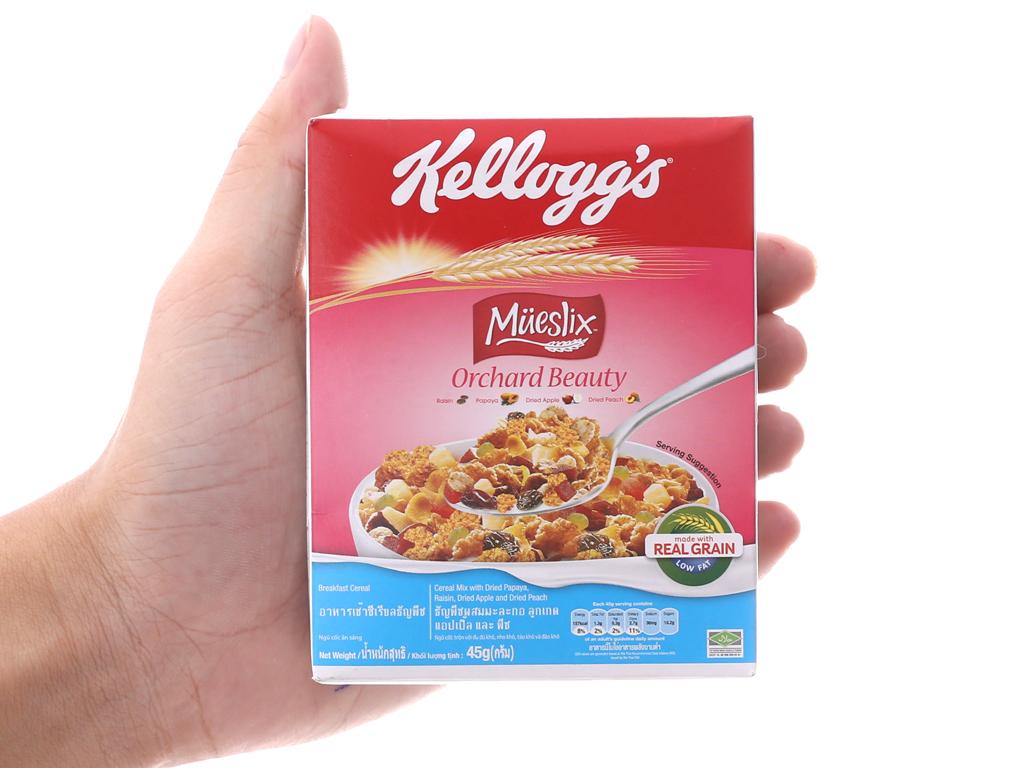 Ngũ cốc trộn trái cây khô Kellogg's Mueslix Orchard Beauty hộp 45g 5