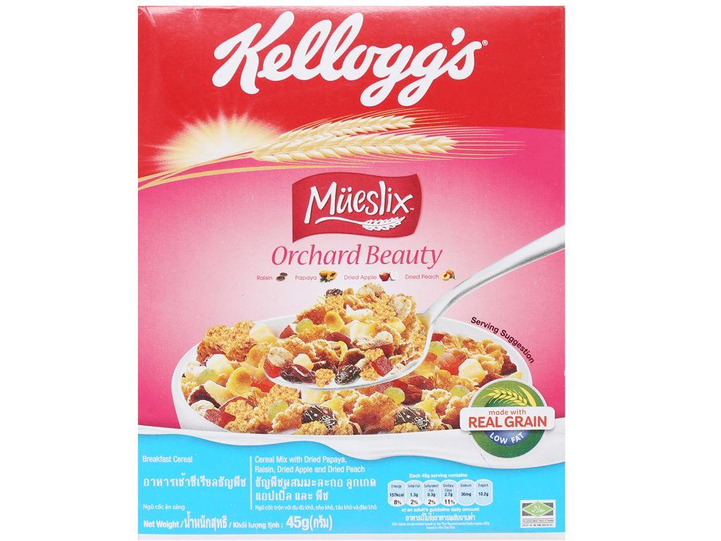 Ngũ cốc trộn trái cây khô Kellogg's Mueslix Orchard Beauty hộp 45g 6