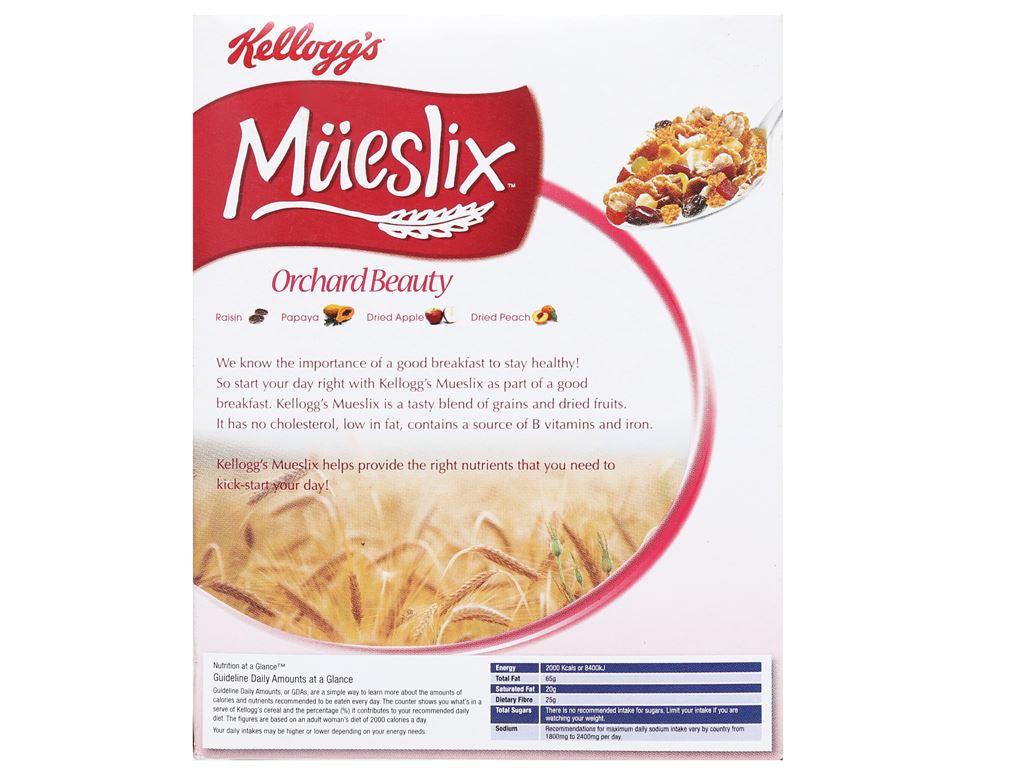 Ngũ cốc trộn trái cây khô Kellogg's Mueslix Orchard Beauty hộp 45g 7