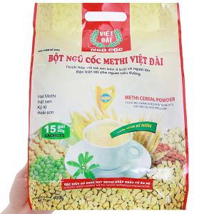 Bột ngũ cốc Methi Việt Đài bịch 600g