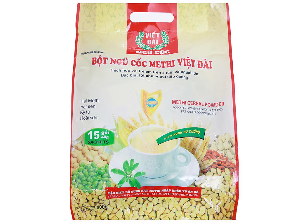 Bột ngũ cốc Methi Việt Đài bịch 600g 1