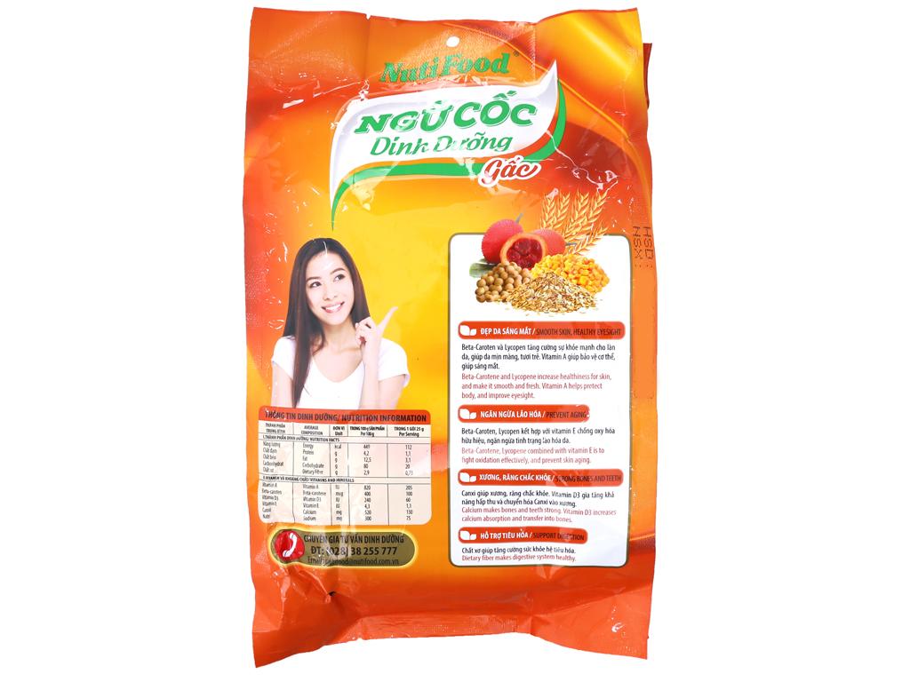 Ngũ cốc dinh dưỡng nguyên cám NutiFood Vị gấc bịch 500g 3