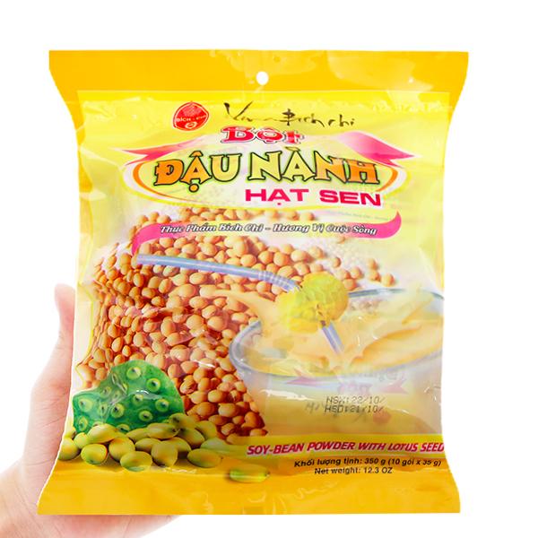 Bột đậu nành hạt sen Bích Chi Có đường bịch 10 gói