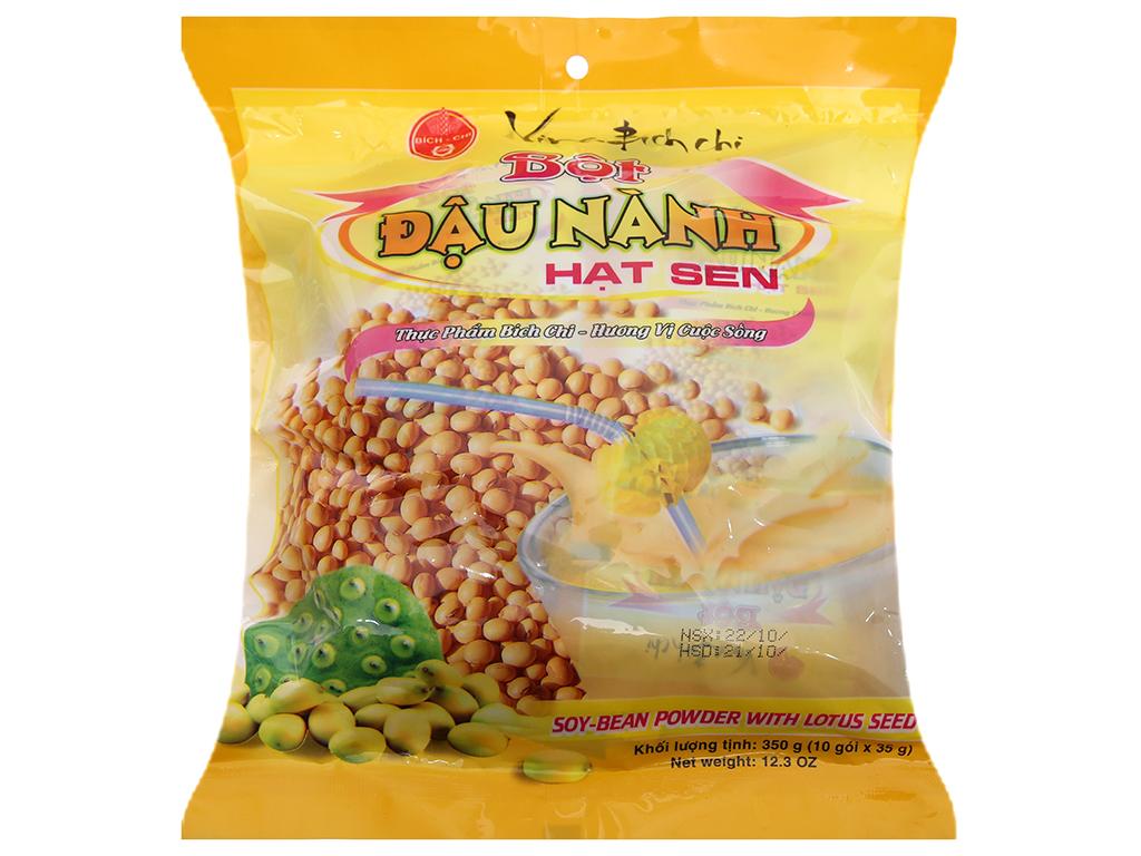 Bột đậu nành hạt sen Bích Chi Có đường bịch 350g 1