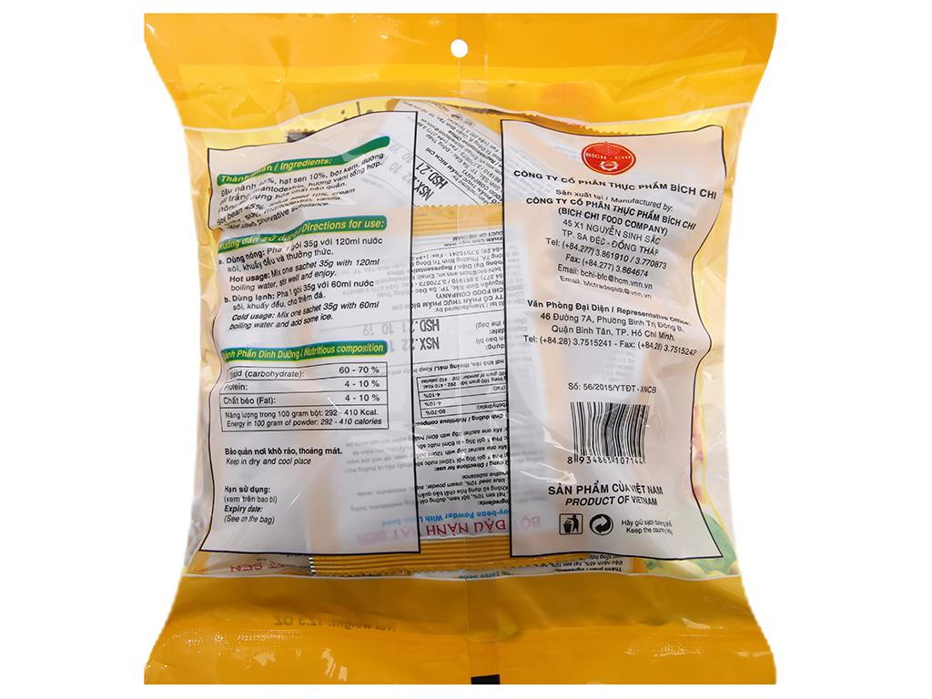 Bột đậu nành hạt sen Bích Chi Có đường bịch 350g 2