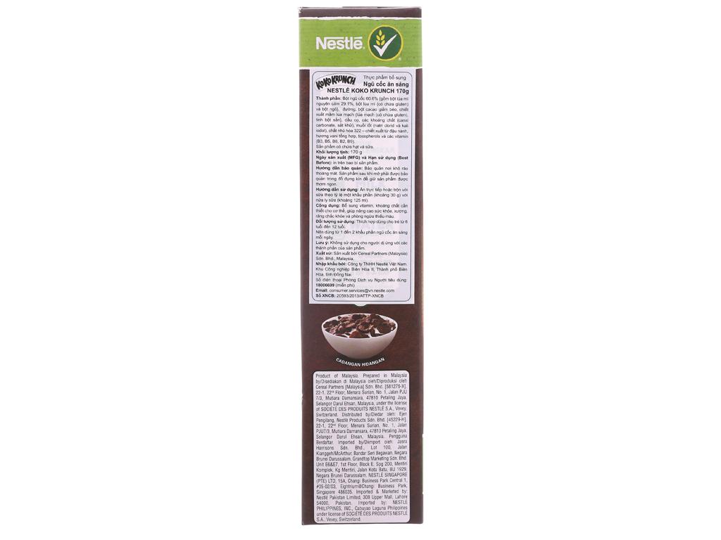 Ngũ cốc Nestlé Koko Krunch vị socola hộp 170g 3