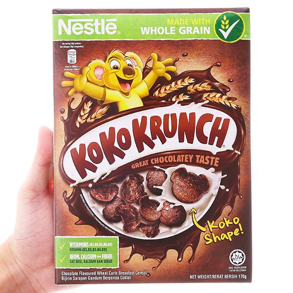 Ngũ cốc Nestlé Koko Krunch vị socola hộp 170g