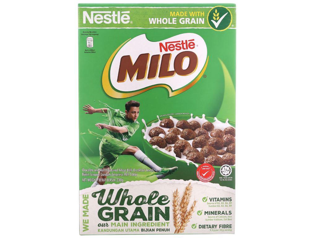 Ngũ cốc Nestlé Milo vị socola hộp 330g 2