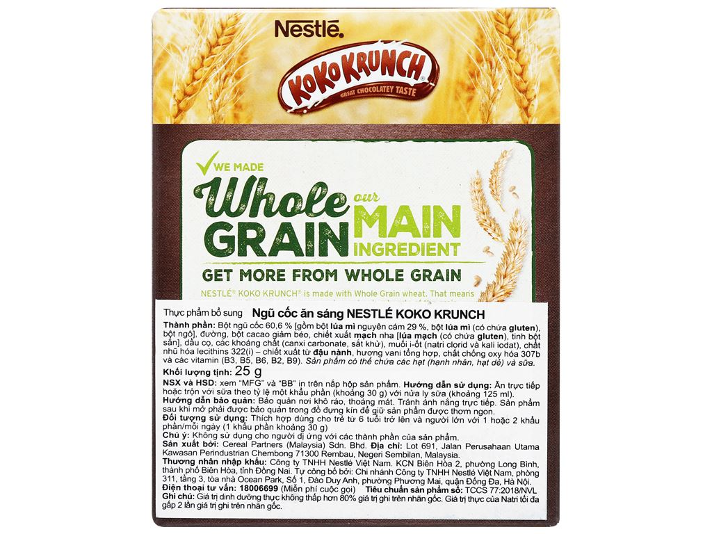 Ngũ cốc Nestlé Koko Krunch hộp 25g 6