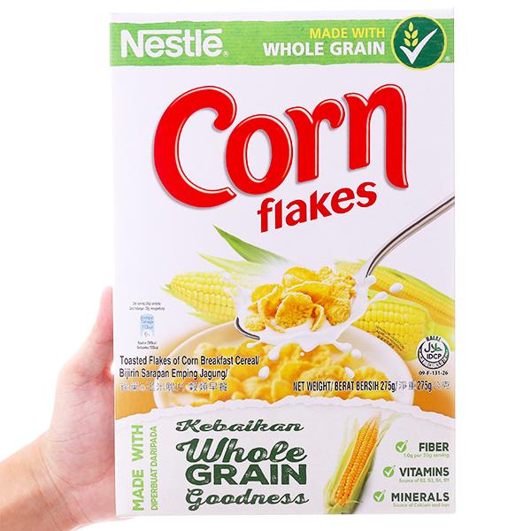 Ngũ cốc Nestlé Corn Flakes vị bắp hộp 275g