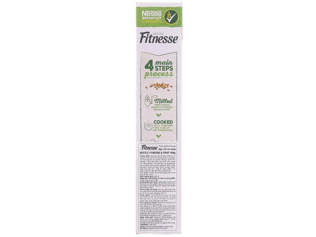 Ngũ cốc Nestlé Fitnesse & Fruit hộp 400g 3