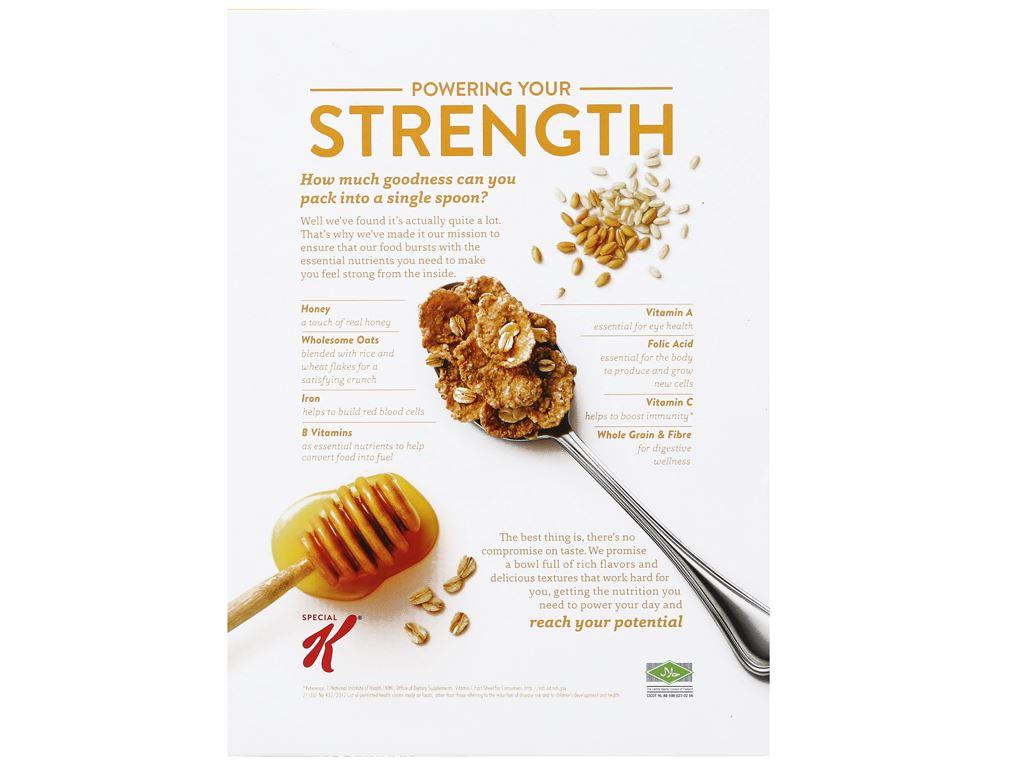 Ngũ cốc Kellogg's Special K yến mạch và mật ong hộp 209g 7