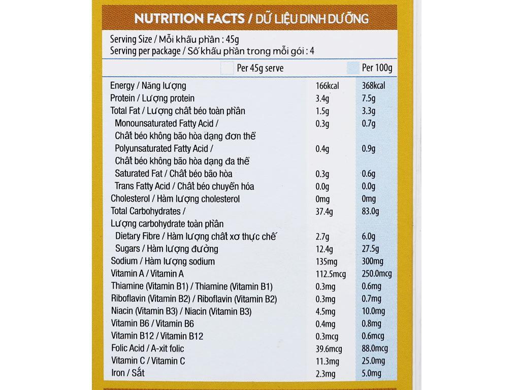 Ngũ cốc Kellogg's Special K yến mạch và mật ong hộp 209g 9