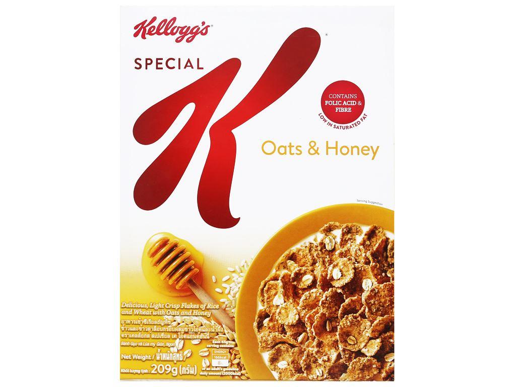 Ngũ cốc Kellogg's Special K yến mạch và mật ong hộp 209g 1