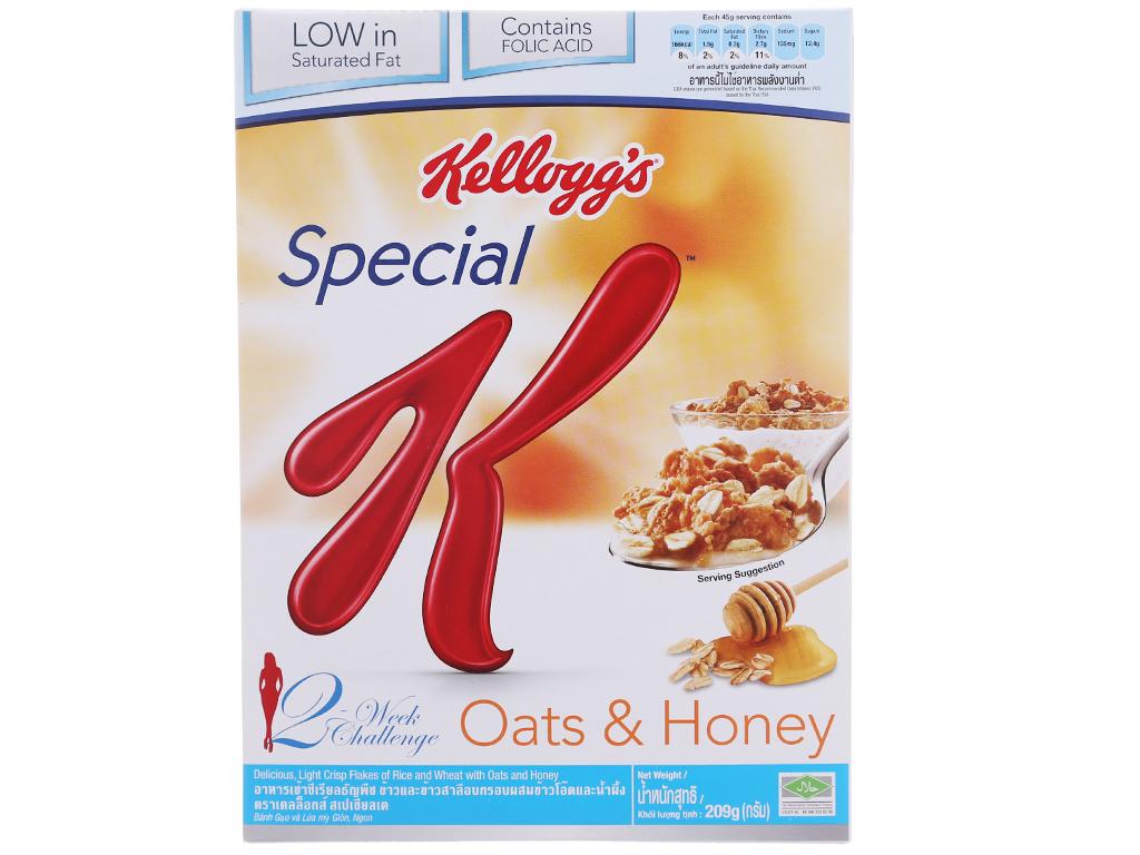 Ngũ cốc Kellogg's Special K yến mạch và mật ong hộp 209g 2