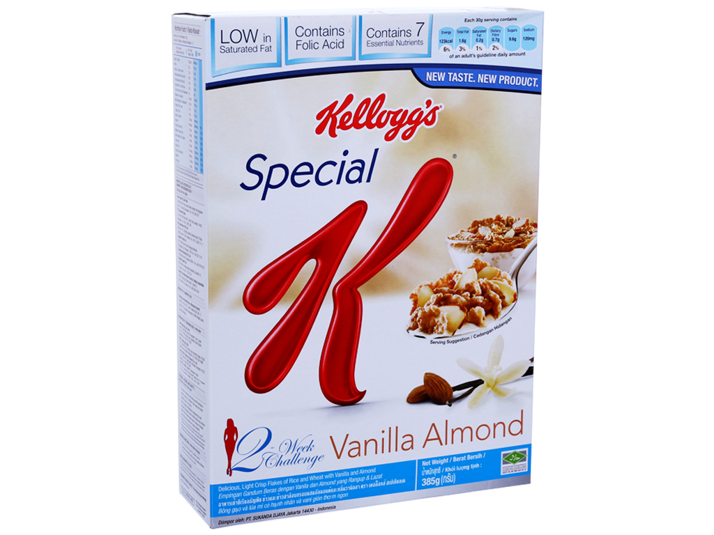 Ngũ cốc Kellogg's Special K Vanilla và Almonds hộp 385g 1