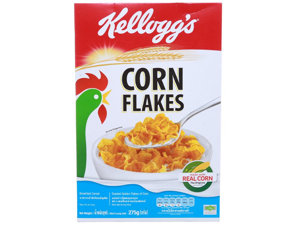 Ngũ cốc dinh dưỡng Kellogg's Corn Flakes vị bắp hộp 275g 1