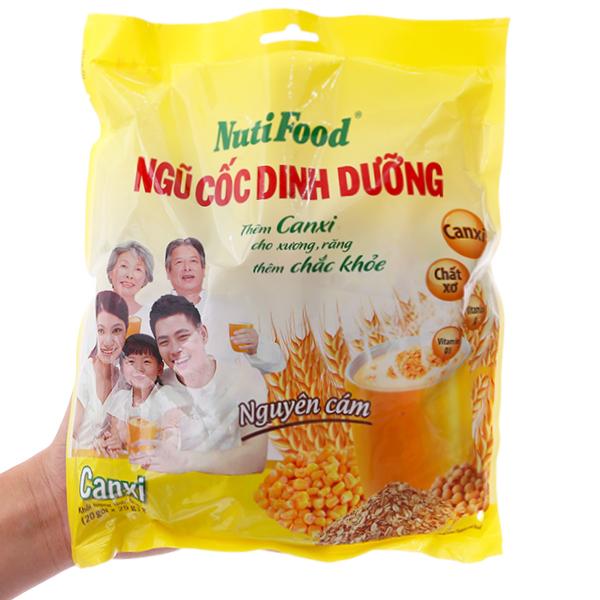 Ngũ cốc dinh dưỡng NutiFood Nguyên cám bổ sung Canxi bịch 500g