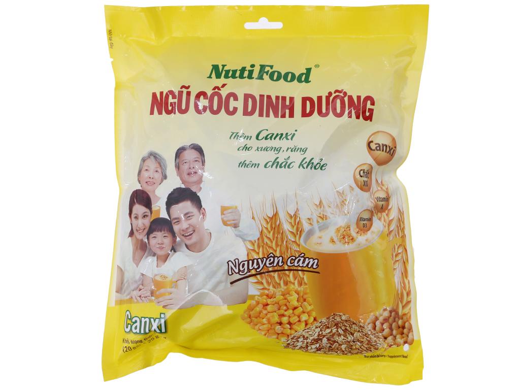 Ngũ cốc dinh dưỡng NutiFood Nguyên cám bổ sung Canxi bịch 500g 2