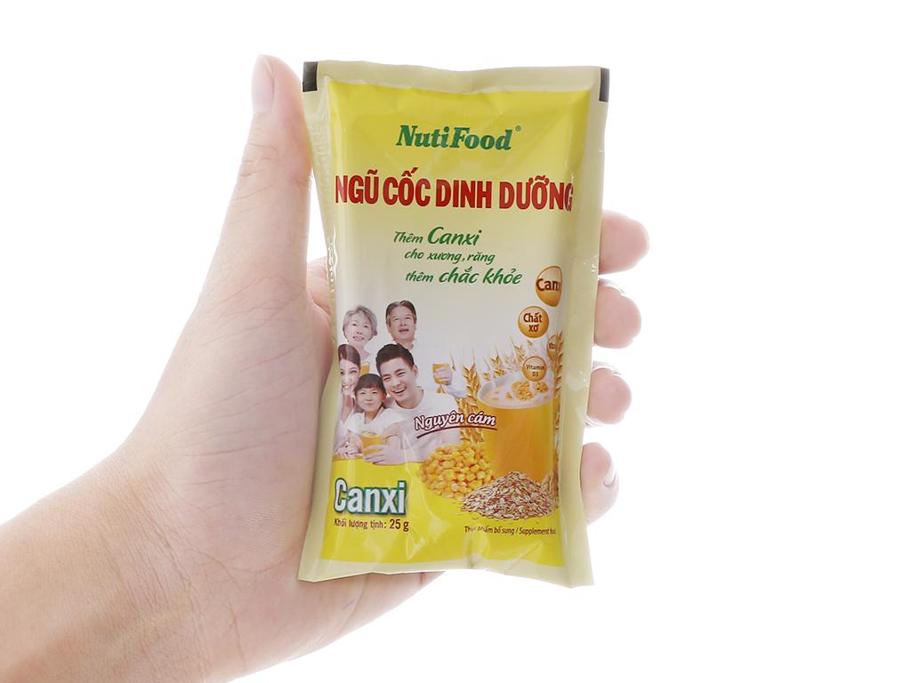 Ngũ cốc dinh dưỡng NutiFood Nguyên cám bổ sung Canxi bịch 500g 5