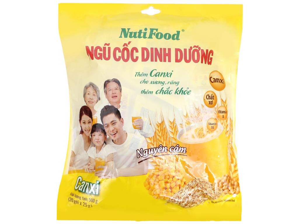 Ngũ cốc dinh dưỡng NutiFood Nguyên cám bổ sung Canxi bịch 500g 6