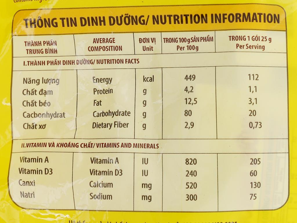 Ngũ cốc dinh dưỡng NutiFood Nguyên cám bổ sung Canxi bịch 500g 8