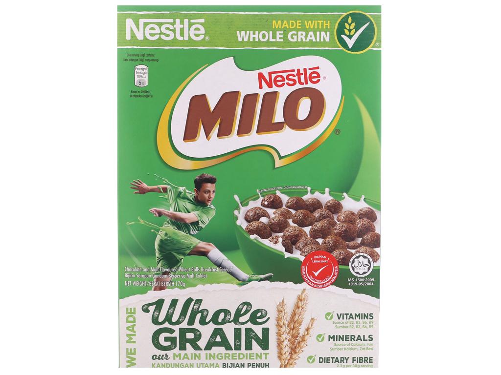 Ngũ cốc Nestlé Milo vị socola hộp 170g 2