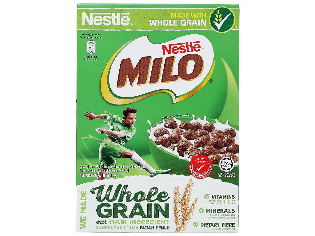 Ngũ cốc Nestlé Milo vị socola hộp 170g 5