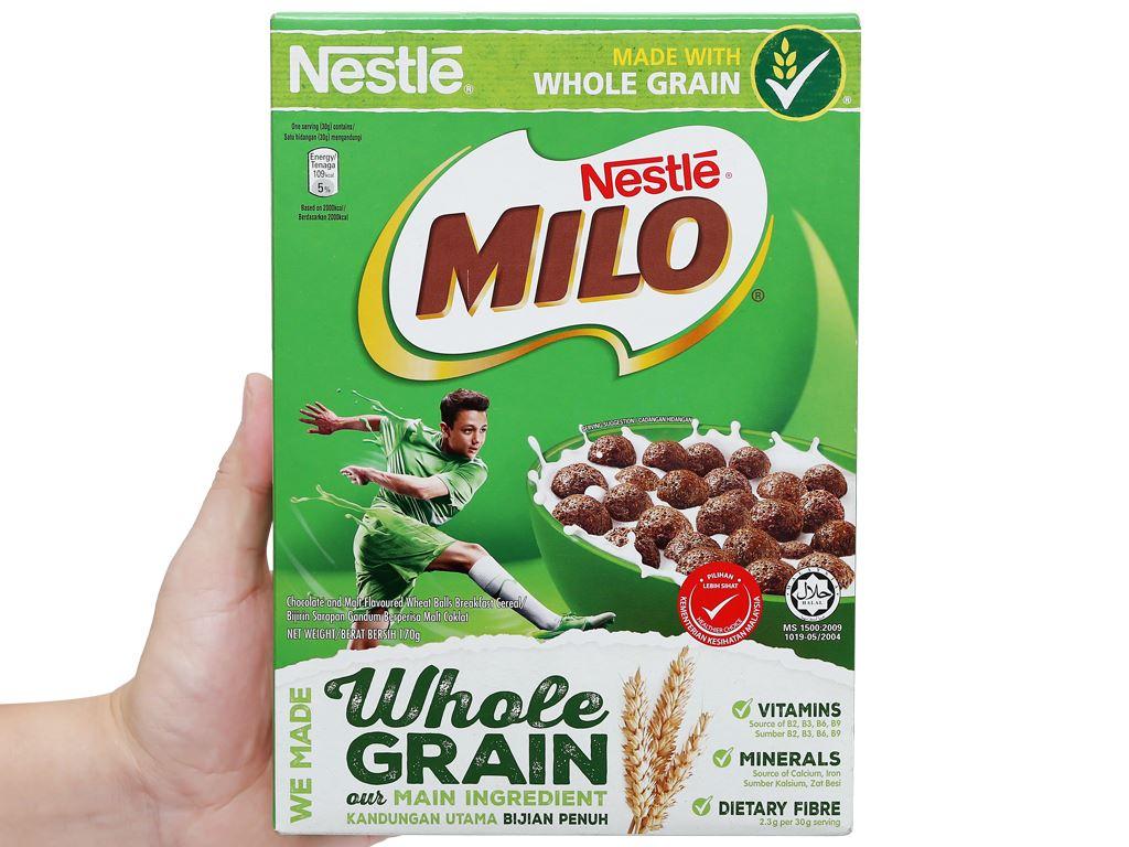 Ngũ cốc Nestlé Milo vị socola hộp 170g 9