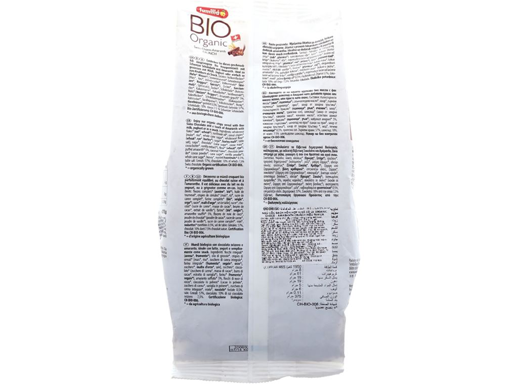 Ngũ cốc Familia Bio Organic vị sô cô la bịch 375g 2