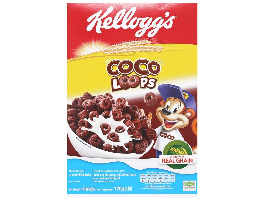 Ngũ cốc Kellogg's Coco Loops vị socola hộp 170g 1
