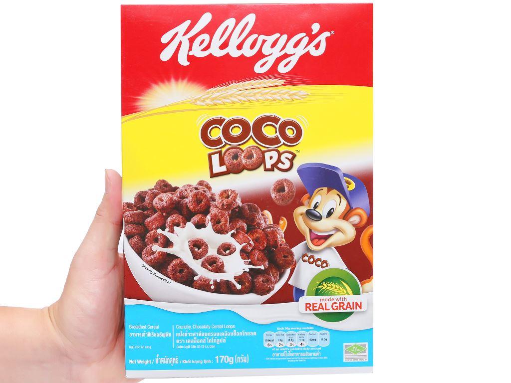 Ngũ cốc Kellogg's Coco Loops vị socola hộp 170g 11