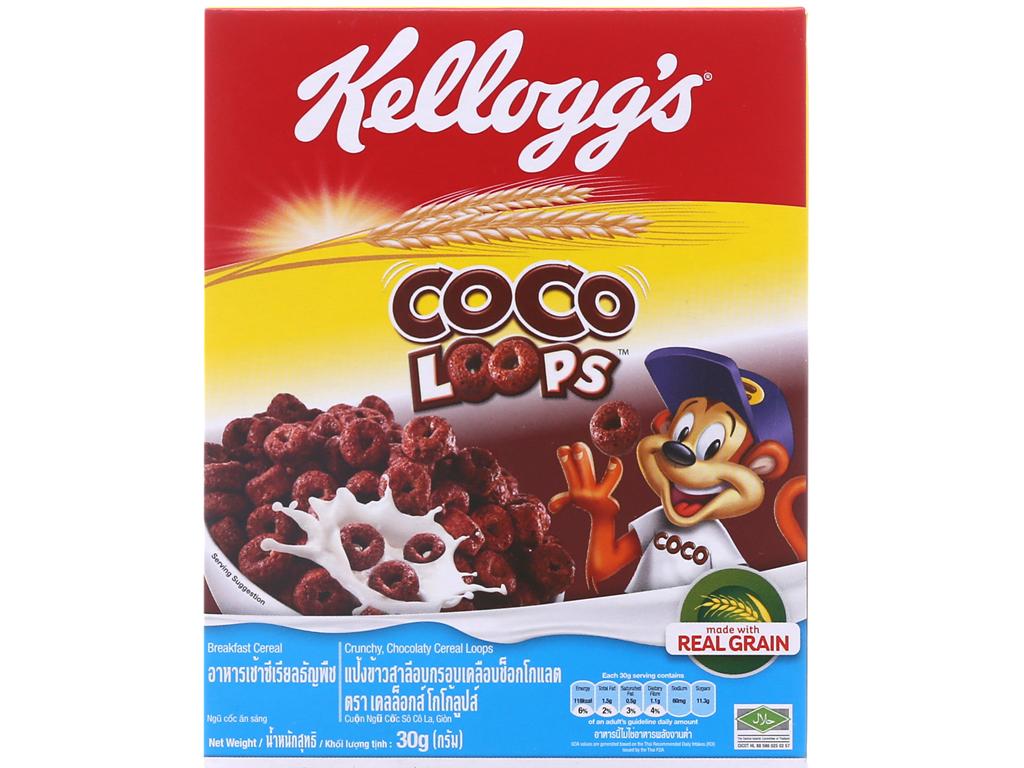 Ngũ cốc Kellogg's Coco Loops vị socola hộp 30g 2