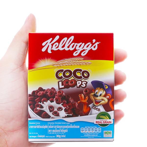 Ngũ cốc Kellogg's Coco Loops vị socola hộp 30g