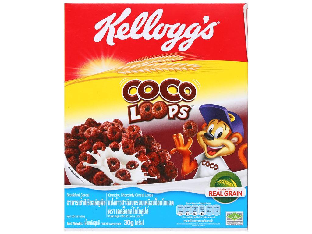 Ngũ cốc Kellogg's Coco Loops vị socola hộp 30g 5