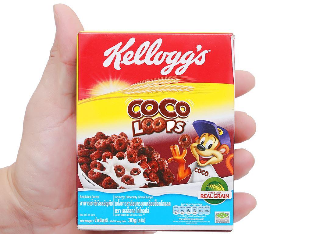 Ngũ cốc Kellogg's Coco Loops vị socola hộp 30g 10
