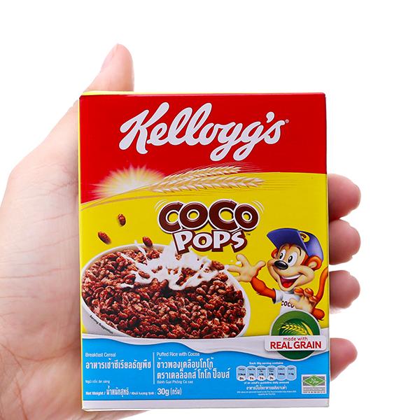 Ngũ cốc Kellogg's Coco Pops vị socola hộp 30g