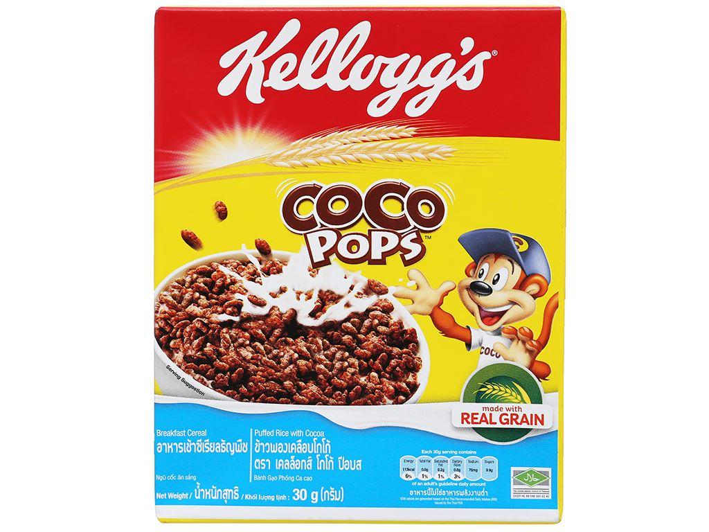 Ngũ cốc Kellogg's Coco Pops vị socola hộp 30g 5