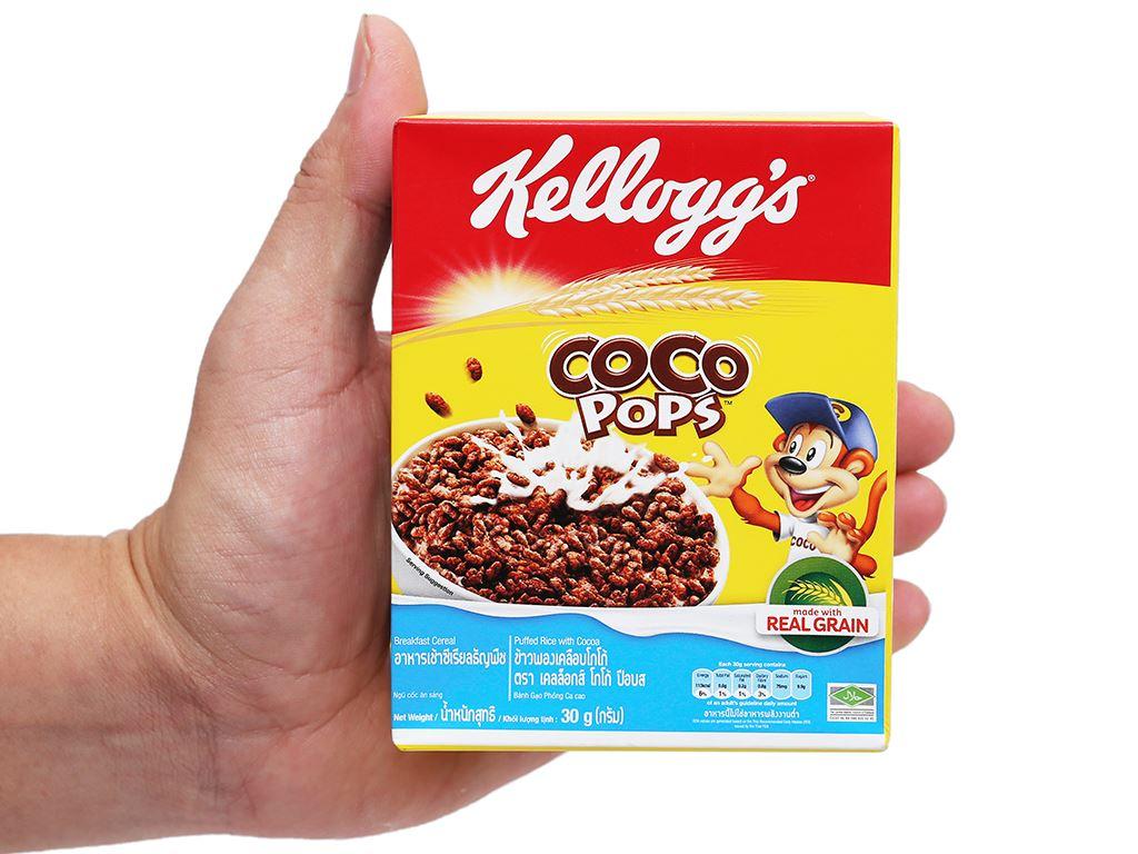 Ngũ cốc Kellogg's Coco Pops vị socola hộp 30g 13