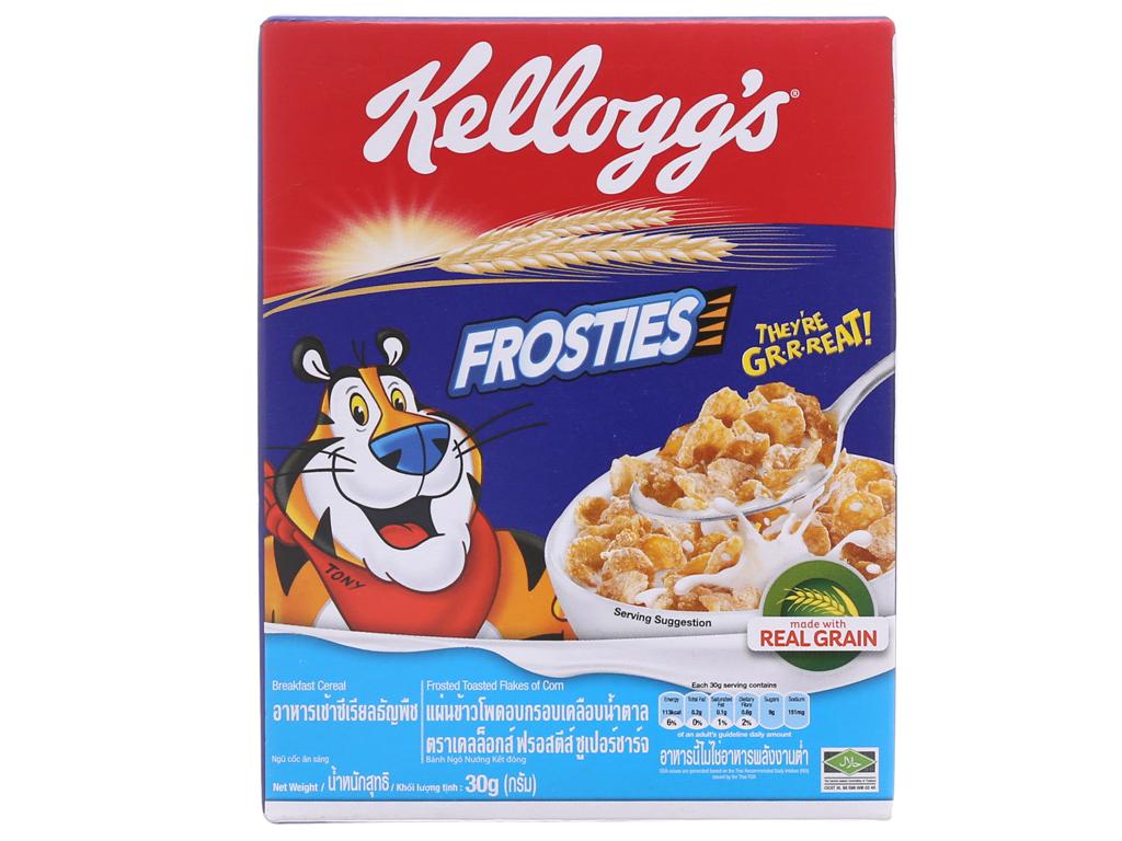 Ngũ cốc Kellogg's Frosties vị bắp hộp 30g 2