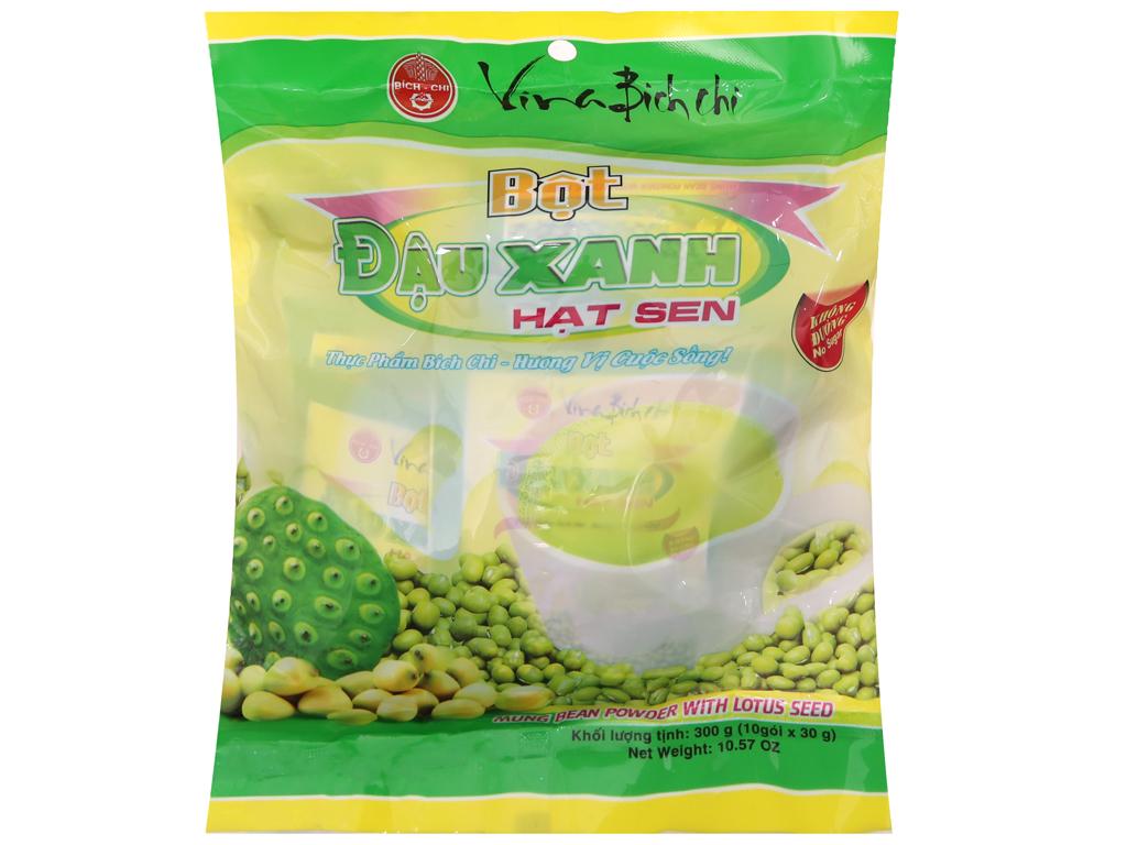 Bột đậu xanh hạt sen Bích Chi Không đường bịch 300g 1