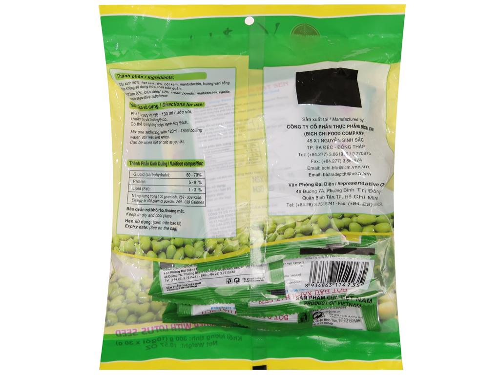 Bột đậu xanh hạt sen Bích Chi Không đường bịch 300g 2