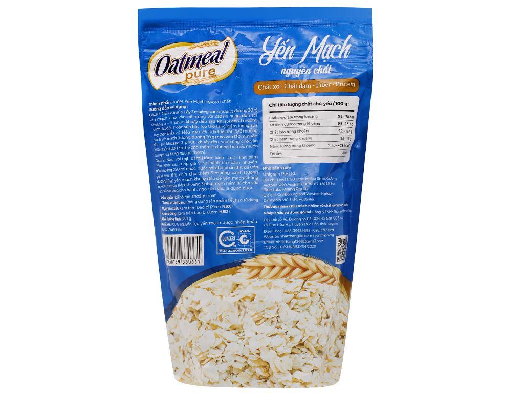 Yến mạch nguyên chất Oatmeal Cereal bịch 350g 7