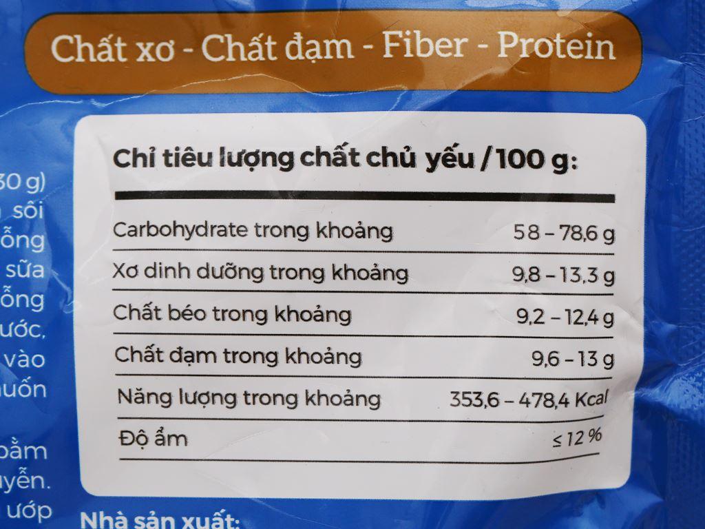 Yến mạch nguyên chất Oatmeal Cereal bịch 350g 8