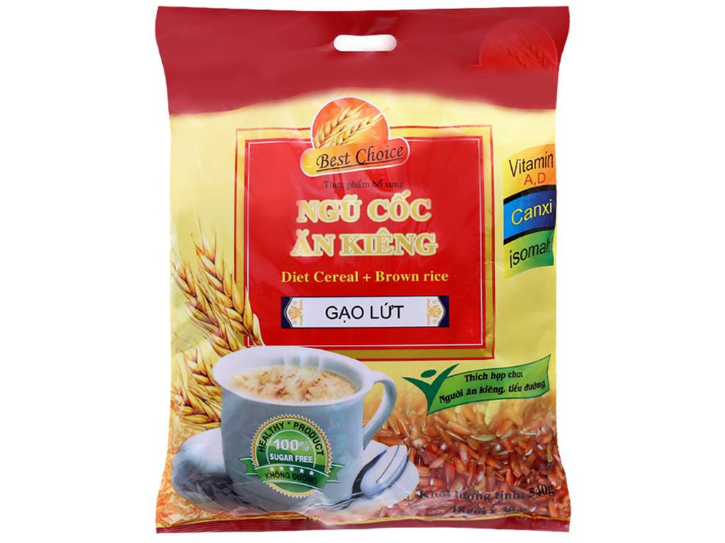 Ngũ cốc ăn kiêng Best Choice Gạo lứt bịch 540g 1