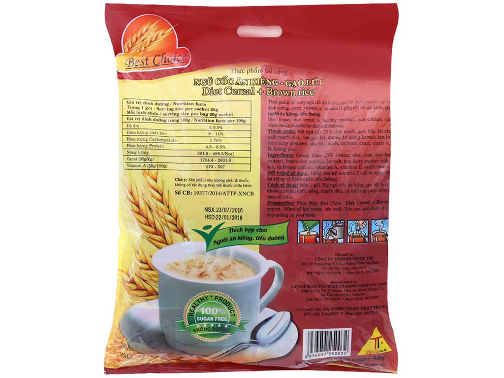 Ngũ cốc ăn kiêng Best Choice Gạo lứt bịch 540g 2