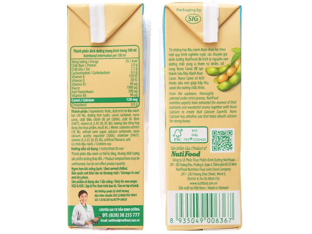 Sữa đậu nành Nuti Canxi 200ml 4