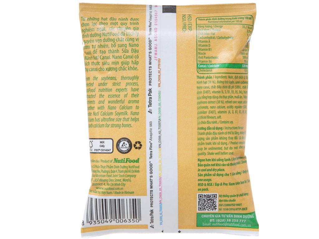 Sữa đậu nành Nuti Canxi bịch 200ml 3