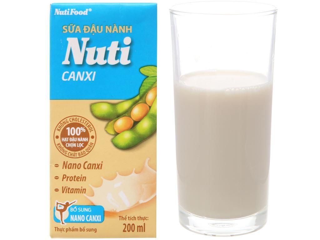 Thùng 36 hộp Sữa đậu nành Nuti Canxi 200ml 2