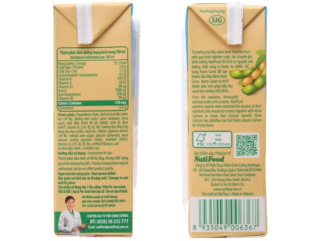 Thùng 36 hộp Sữa đậu nành Nuti Canxi 200ml 4